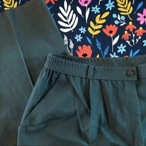Pants - Vintage high waisted relaxed fit pants, green